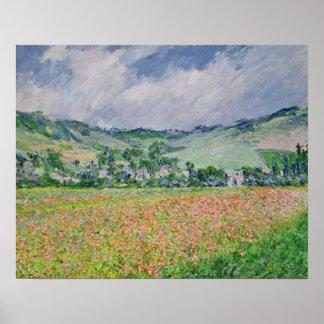Poster Claude Monet | le champ de pavot près de Giverny,