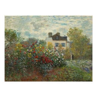 Poster Claude Monet | le jardin de l'artiste à Argenteuil