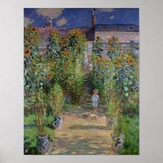 Poster Claude Monet | le jardin de l'artiste chez
