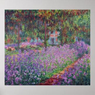 Poster Claude Monet | le jardin de l'artiste chez Giverny