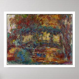 Poster Claude Monet   le pont japonais