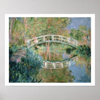 Poster Claude Monet | le pont japonais, Giverny