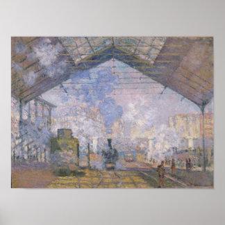 Poster Claude Monet | le St Lazare, 1877 de Gare
