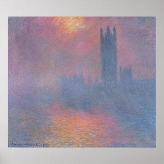 Poster Claude Monet | les Chambres du Parlement, Londres