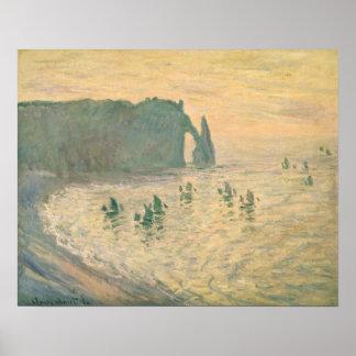 Poster Claude Monet | les falaises chez Etretat, 1886