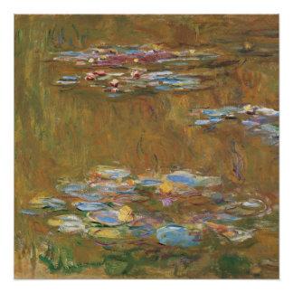 Poster Claude Monet l'étang GalleryHD de nénuphar