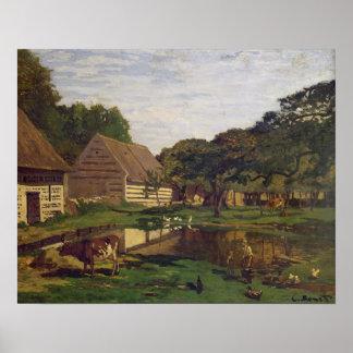 Poster Claude Monet | une basse cour en Normandie