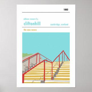 Poster Cliftonhill, Coatbridge. Copie manuelle de style