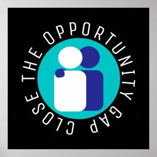 Poster Clôturez la réforme d'éducation de Gap d'occasion