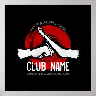 Poster Club d'arts martiaux