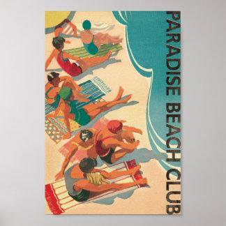 Poster Club de plage de paradis