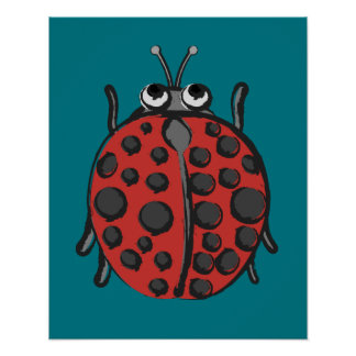 Poster Coccinelle heureuse