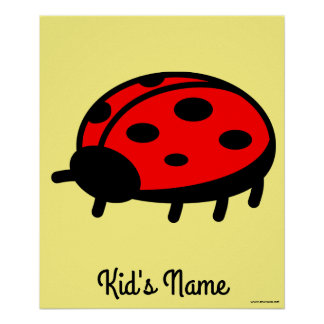 Poster Coccinelle rouge