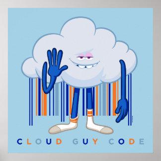 Poster Code de type de nuage de Trolls|