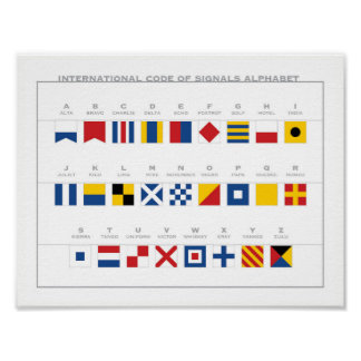 Poster Code international d'alphabet de signaux