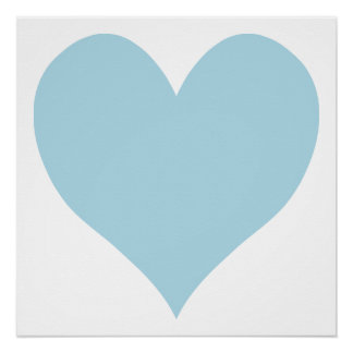Poster Coeur bleu-clair mignon
