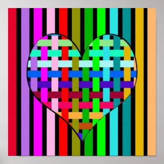 Poster Coeur dans l'optique de Web