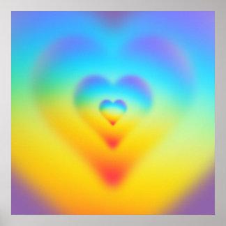 Poster coeur d'arc-en-ciel