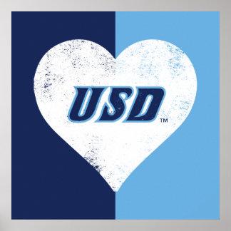 Poster Coeur de cru d'USD