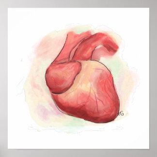Poster Coeur humain