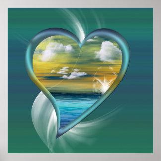 Poster Coeur liquide