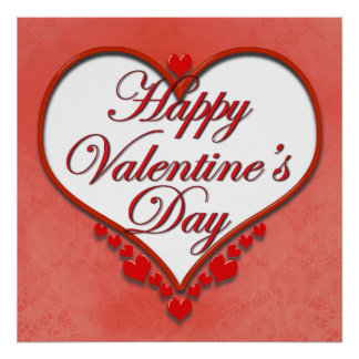 Poster Coeur perlé Valentine