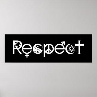 Poster Coexistent avec le respect - la gentillesse et la