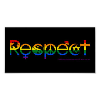 Poster Coexistez avec gay pride du respect LGBT