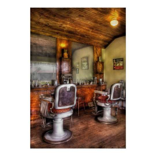 poster coiffeur le salon de coiffure ii. Black Bedroom Furniture Sets. Home Design Ideas