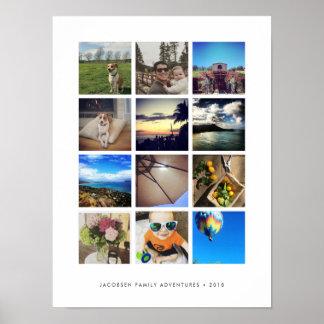 Poster Collage moderne de photo d'Instagram