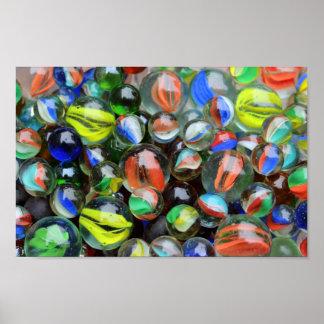 Poster Collection de marbres en verre