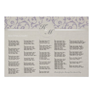 Poster Collection de mariage de lavande de SmartElegance