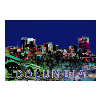 Poster Colombie dans le graffiti