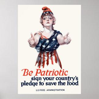 Poster Colombie vous invite à sauver la nourriture