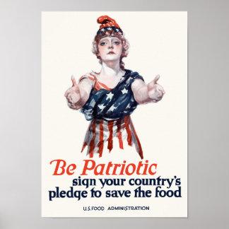 Poster Colombie vous invite à sauver la nourriture -- WWI