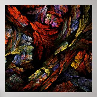 Poster Colorez la copie d'art abstrait d'harmonie
