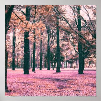 Poster Colorez les arbres effectués en parc de Yoyogi à