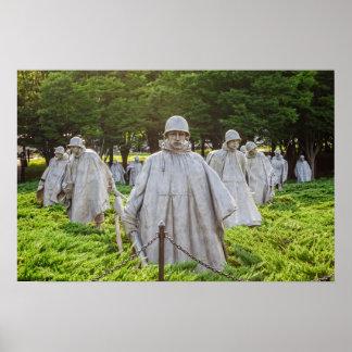 Poster Combattants de Guerre de Corée commémoratifs