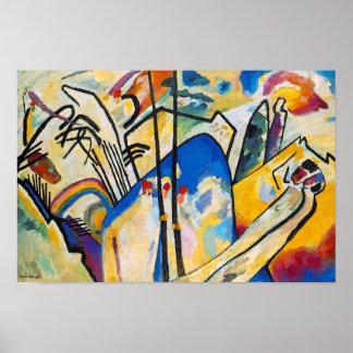 Poster Composition quatre en Wassily Kandinsky - art