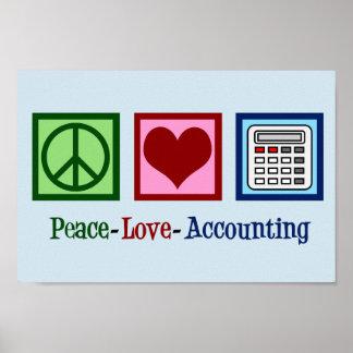 Poster Comptabilité d'amour de paix