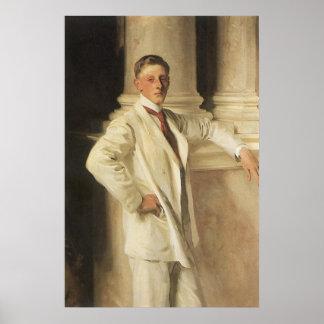Poster Comte de Dalhousie par Sargent, art vintage de
