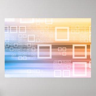 Poster Concept du trafic de train de données de données