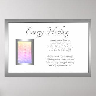 Poster Conception curative d'art de poème d'énergie