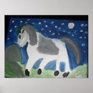 Poster Conception d'art d'image de cheval
