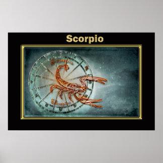 Poster Conception d'astrologie de zodiaque de Scorpion