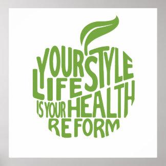 Poster Conception de citation de santé