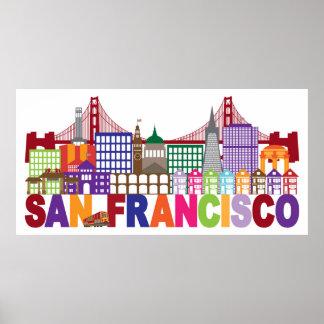 Poster Conception de typographie de San Francisco, la