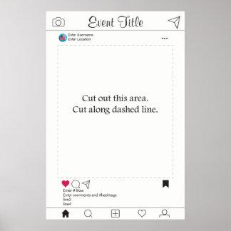 Poster Conception d'Instagram d'affiche de cadre d'appui