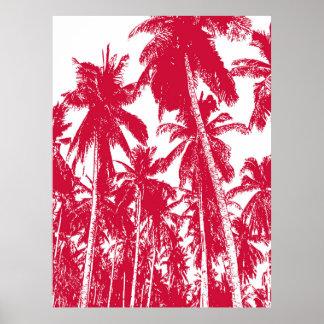 Poster Conception graphique de palmiers