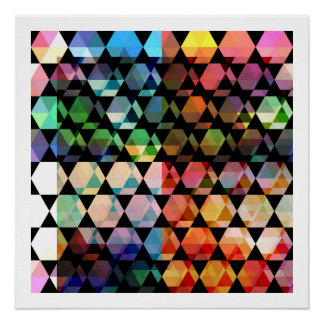 Poster Conception graphique d'hexagone abstrait